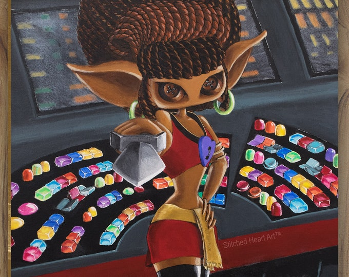 """She Boldly Goes - 11x14"""" Repro Print - Inspired by Uhura from Star Trek – MuseArt"""