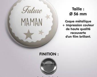 "Badge ""Future Maman"" - Coloris Taupe"