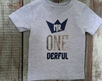 Mr Onederful Shirt, 1st Birthday Boy Outfit, First Birthday Boy Shirt, Mr Onederful Shirt Boys, Trendy Baby Boy Clothes, fast shipping