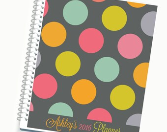 2018-2019 Planner, Personalized  Daily Planner, Monthly Planner, Yearly Planner, Laminated Covers, Calendar, Travel Planner, Writing Journal