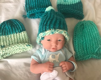 Muti-Color Acrylic Newborn Baby Hats