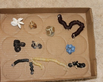 Set of 9 Bunches of Buttons, , Some Vintage, Sewing Projects, Arts and Crafts, Clothing Projects, Supplies