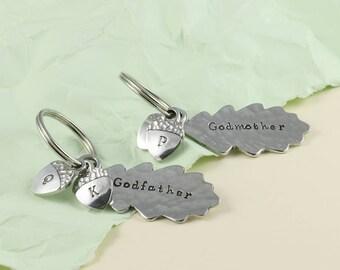 Godparent Gift/Godmother Gift/Godfather Gift/Christening Gift/Baptism Gift/Gift From Godchild/Gift for Godparent/Personalised/Oak Leaf.