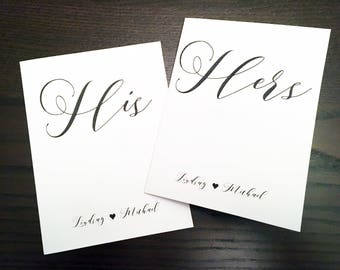 Vow Notebooks - Customize with your names - His and Her Vow Notebook Set