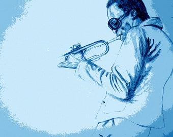 Miles of Blues Canvas Print Fine Art Giclee Print Wall Art Wall Décor Large Painting Fine Art Print Wendel Johnston.