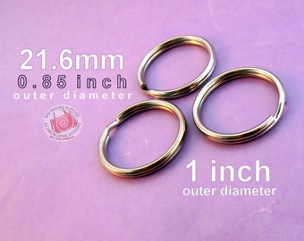 40 pieces 21.6mm split rings / key rings (available in nickel, antique brass, and copper finishes)
