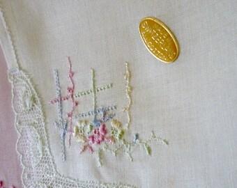 1960s Swiss cotton handkerchiefs set of two