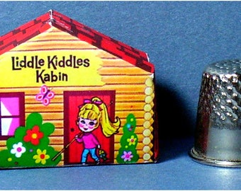 Liddle Kiddles Kabin -  Dollhouse Miniature - 1:12 scale - 1960s Liddle Kiddles Diorama or 1960s Dollhouse Accessory girl nursery toy