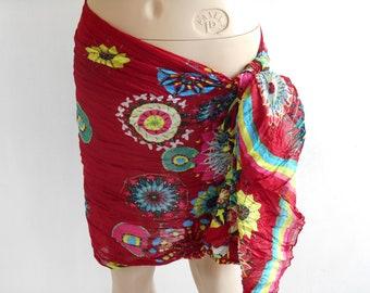 Bordeaux sarong pareo, Beach Dress, Beach Wrap, pool cover up, Oversized Scarf, Cotton Sarong, sarong skirt, sarong cover up, beach cover up