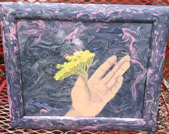 Flowers In A Hand, Original Painting