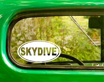 2 SKYDIVE Oval Decals, Skydive Sticker, Skydiving, Laptop Sticker, Oval Sticker, Bumper, car Decal, Vinyl Decal, Car Sticker