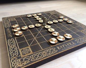 Hnefatafl Board Game 9x9 - Tafl, Scandinavian Game, Vikings Chess