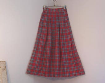 Red plaid Pleated Skirt by David Brooks size 4