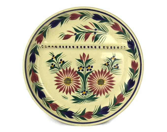 Quimper Pottery Asparagus Plate Signed HB Quimper. Hand Painted French Breton Faience Wall Plate. Country Kitchen Decor. Gifts For Mom.