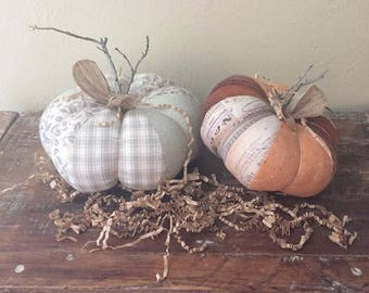 Set of Two Prim Pumpkins