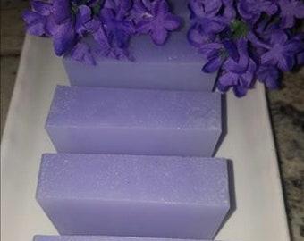 Three Butter Soap,Moisturizing Lilac Soap, Shea Butter, Cocoa Butter, Mango Butter, handmade