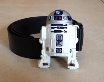 R2D2 metal BUCKLE with Free Belt star wars Artoo droid New