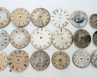 Vintage Watch Faces - set of 18 - c140