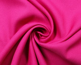 """Fuschia 60"""" Poly Crepe Fabric by the Yard - Style 3060"""