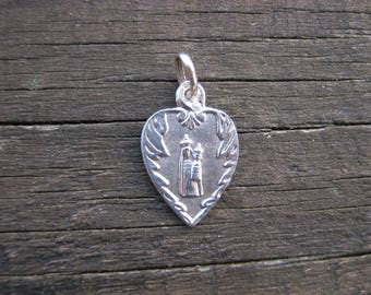 French Religious Medal, Medaille Religieuse, Virgin Mary Pendant