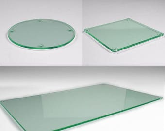 Glass acrylic coaster and Placemat kitchen dining table coasters modern square and round coasters Glass acrylic placemats