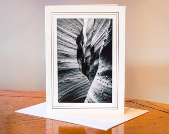 Slot Canyon Photograph Card / Blank Inside / Nature Photo Note Card / Greeting Card Art