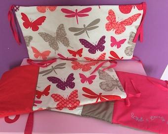 Baby bumper three cushions
