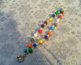 lovely, stylish bracelet and one multicolor double strand