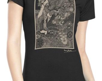 "Ladies' Harry Clarke ""Morella"" T Shirt - Edgar Allan Poe Shirt - Literature shirt"