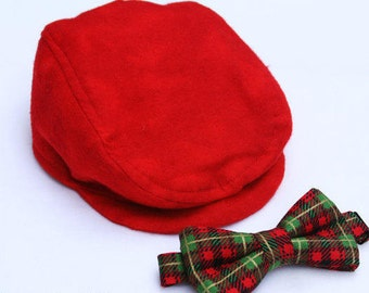 Boys Newsboy Hat, Toddler Formal Wear, Page Boy Outfit, Toddler Newsboy Cap, Ring Bearer Outfit, Red Boys Hat, Toddler Hat, Boys Flat Hat