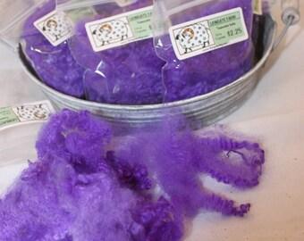 Purple Teeswater locks felting bits, Needle Felting Wool, # 647