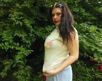 80s Pastel Sleeveless Sweater