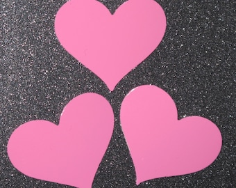 Shiny Pink Heart Stickers