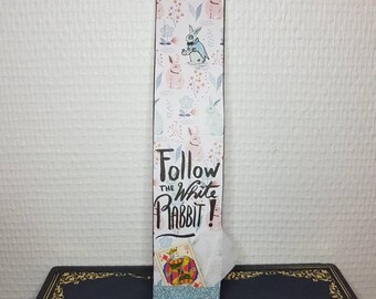 "Large bookmark ""White Rabbit"""