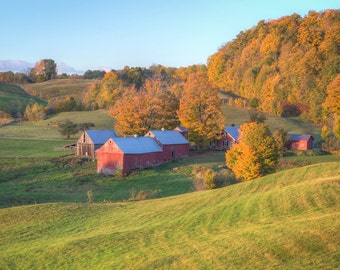 Jenne Farm Photograph - Vermont Fall Foliage Print - Landscape Print - New England Autumn - Foliage Photography - Autumn Foliage - VT Farm