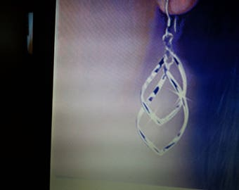 Silver plated  twisted earrings free shipping
