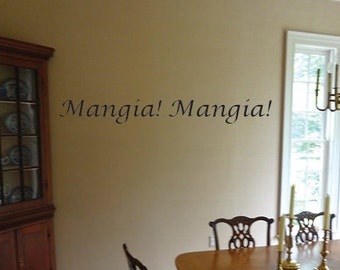 Mangia Mangia Wall Art Vinyl Decal. item#22