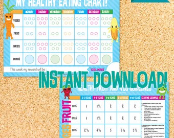 Downloadable Healthy Eating Chart - for the fussy eater