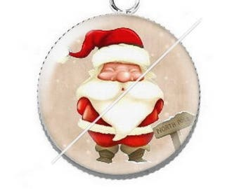 Pendant cabochon resin Merry Christmas happy holidays 9