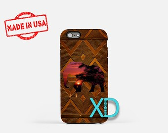 African Elephant iPhone Case, African iPhone Case, African iPhone 8 Case, iPhone 6s Case, iPhone 7 Case, Phone Case, iPhone X Case, SE Case