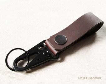Leather Key Fob, Belt Leather Keychain, Belt Clip Key Chain, Gift under 15 dollars
