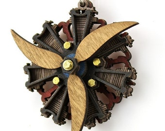 Radial 3 Propeller Engine Pendant #7002A