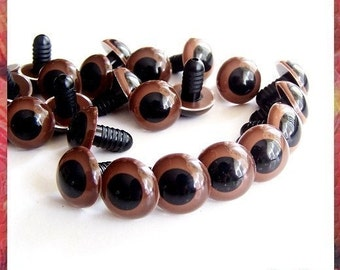 15mm Brown Plastic eyes Safety eyes- 5 PAIRS