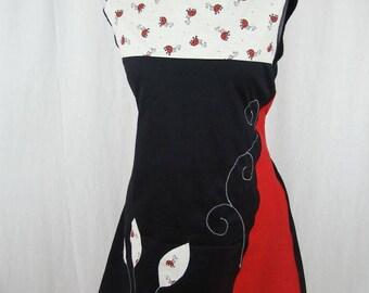 Robe Kyriu coccinelles rouge et noire
