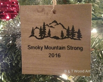 Smoky Mountain strong Christmas ornament Tennessee ornament