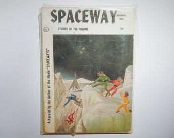 RARE Spaceway Stories of the Future Vintage December 1953 Rare Volume 1 Number 1 Science Fiction Magazine