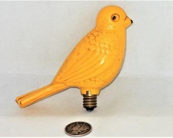 Vintage Celluloid Yellow Bird Light Bulb