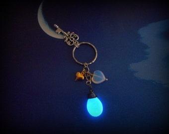 Glows in the Dark Keychain, Kairi Kingdom Hearts all Charmed-Up Key chain - 8 Hour Glow!