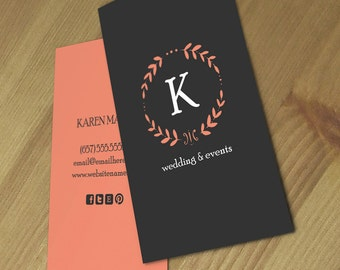 Karen double sided business card - Instant download