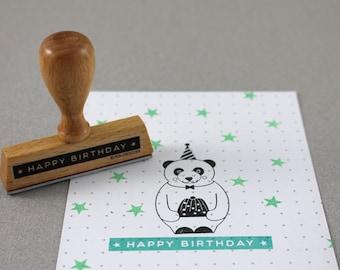 Stamp Label Happy Birthday